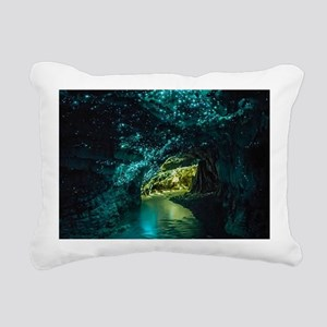 WAITOMO GLOWWORM CAVES Rectangular Canvas Pillow
